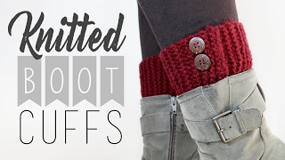 Knitted Boot Cuffs // Knitting For Beginners // Veronica Marie