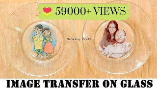 350. Image Transfer On Glass Plate♥Photo Transfer ♥image Transfer Decoupage