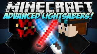 Minecraft | ADVANCED LIGHTSABERS! (Jedis & The Force!) | Mod Showcase [1.5.2]
