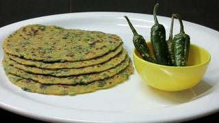 Gujarati Thepla recipe in Hindi - Methi Theplas - How to cook Thepla