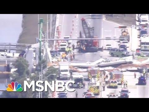 In Miami: Pedestrian bridge collapses kills 1, injures 8