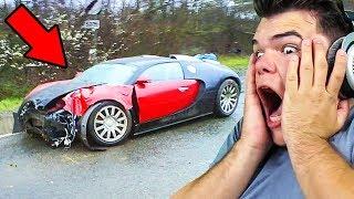 REACTING TO SUPER CAR CRASHES (INSANE)