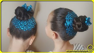 Original Hairstyle for dancing classes 💃 | Spiral hairpins