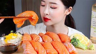 대왕연어초밥 리얼사운드먹방 / Giant Salmon Sushi Mukbang Eating Show суши サーモン ปลาแซลมอน Cá hồi Лосось 三文鱼