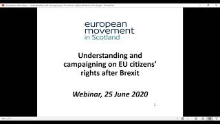Understanding and campaigning on EU citizens' rights after Brexit