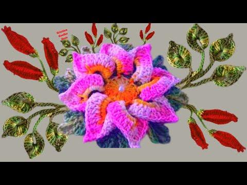 Flor, Botões e Folhas