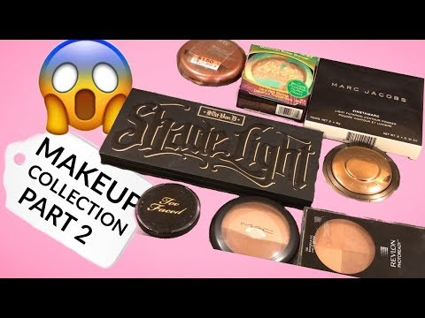 MAKEUP COLLECTION AND INVENTORY 2018//  PART 2 // FACE PRODUCTS