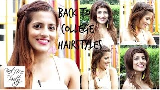 Quick And Easy Back To School/College | Heatless Hairstyles
