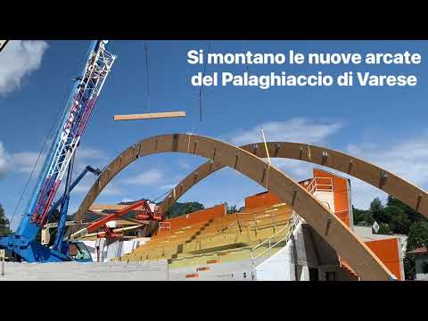 Le nuove arcate del palaghiaccio a Varese