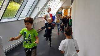 Hokej šola, Turnir Bled, 16.9.2018, Ogrevanje pred tekmo, ekipa U-8