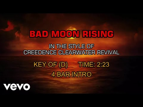 Creedence Clearwater Revival - Bad Moon Rising (Karaoke)