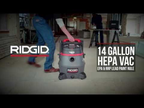 14 Gallon HEPA-Certified Wet/Dry Vac