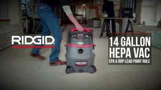 RIDGID RV2400HF – Wet/Dry Vac with Certified HEPA Filtration for EPA's RRP Lead Paint Rule