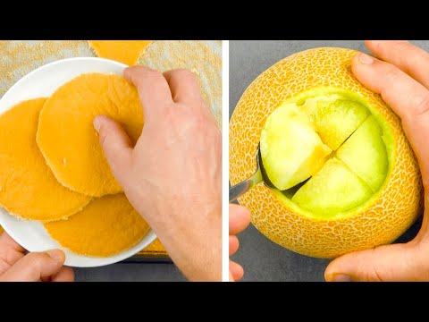 Slice A Cake Into Circles & Carve An X In A Melon – Amazing!