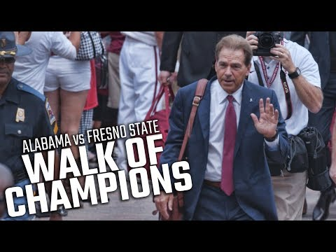 Alabama all business during first Walk of Champions
