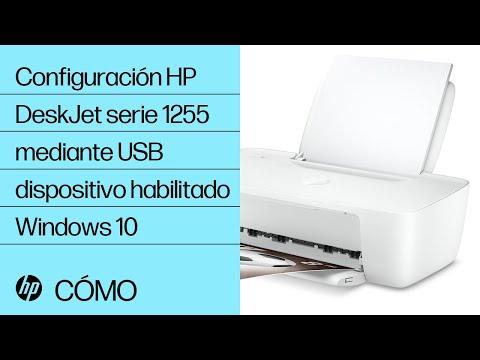 Configuración de la impresora HP DeskJet serie 1255 mediante USB en dispositivo habilitado para Windows 10