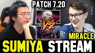SUMIYA watching how MIRACLE Invoker vs Broodmother | Sumiya Invoker Stream Moment #419