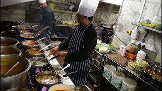 Very Busy Indian Restaurant Action: The Curry Masters Kitchen on a Saturday Night, Tiranga Leicester