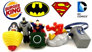 2016 BURGER KING BATMAN V SUPERMAN MOVIE DC COMICS SUPER FRIENDS SET 6 KIDS MEAL TOYS COLLECTION