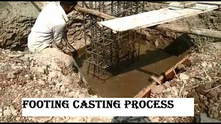 Footing Shuttering, Casting process / watch
