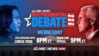 Watch: 2020 Vice Presidential Debate Between Mike Pence, Kamala Harris | NBC News NOW