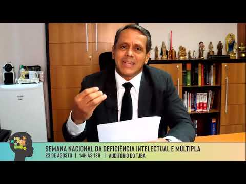 Comissão de Acessibilidade - Des Júlio Travessa - Presidente da Comissão de Acessibilidade do TJBA