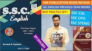MB Publication English Practice Set by A K Singh for SSC CGL, SSC CHSL, SSC Stenographer
