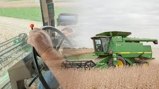 How To Operate a Combine (John Deere 9510)