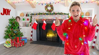 NEW CHRISTMAS HOUSE TOUR Surprising My Brother Stephen Sharer!! (Mystery Neighbor Prank)