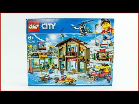 LEGO CITY 60203 Ski Resort Speed Build UNBOXING
