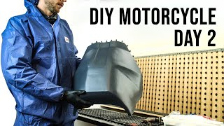 Making a Carbon Fiber Motorcycle Rally Fairing - DAY 2