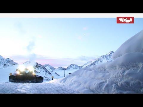 Pistenbully im Einsatz | Pisten präparieren in Tirol
