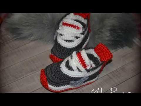 Вяжем пинетки-кроссовки крючком для деток