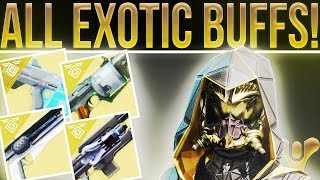 Destiny 2. ALL EXOTIC CHANGES! Weapon Buffs, Milestone Nerf, Vendor Ranks, Weekly Lockouts & More!