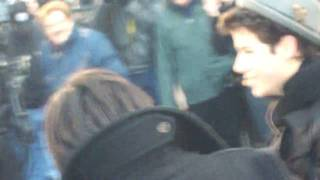 preview picture of video 'Nick and Joe Chatting with Fans. Feb 13th. NYC'