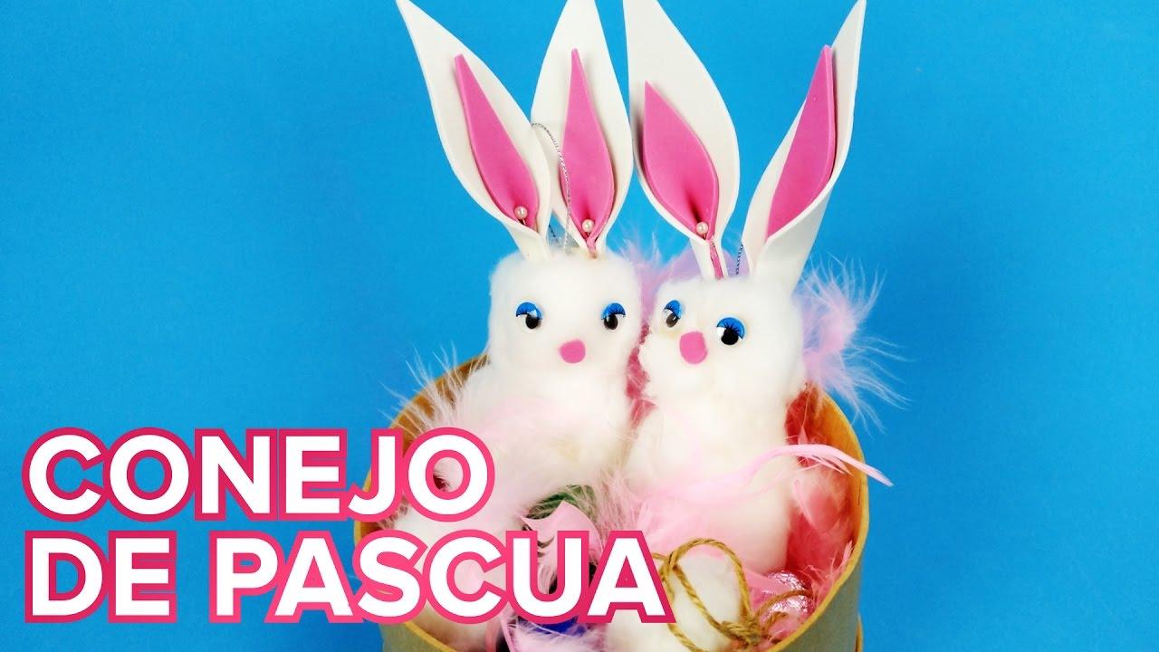 Conejo de Pascua suave como un pompón | Manualidades fáciles