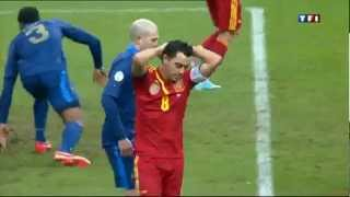 SoccerFootball Fail: Xavi Big Miss Spain VS France 26032013