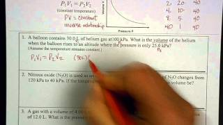 Boyle's Law - example problems