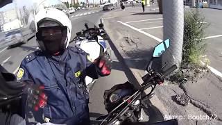 Смотреть видео. Как МОТОБАТ ДПС ловит мотоциклистов  Подборка сезона  #1сезон1