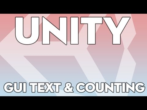 Unity Tutorials - Beginner 14 - GUI Text and Counting - Unity3DStudent.com