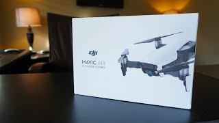 DJI Mavic Air Fly More Combo WHITE Drone Unboxing