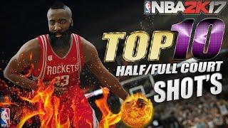 NBA 2K17 - TOP 10 Half/Full Court Shots