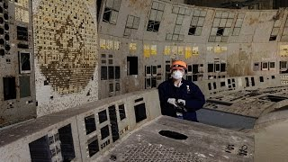 inside Chernobyl ЧАЭС sarcophagus 2016 - reactor #4 control room and lead-lined corridors