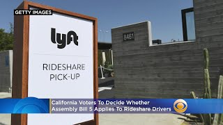 California Voters To Decide Whether AB5 Applies To Rideshare Drivers