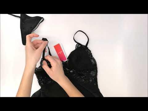 Košilka 810-BAB black babydoll - Obsessive