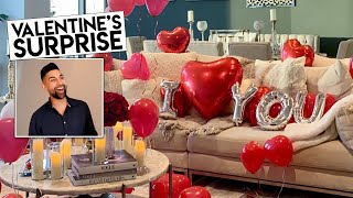 Surprising My Baby Daddy For Valentines | Dhar and Laura