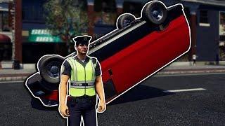 Police Investigate Major Car Crash! -  Police Simulator: Patrol Duty Gameplay