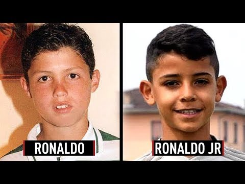 Famous Footballers And Their Kids At EXACTLY The Same Age - Ronaldo JR, Thiago Messi & More