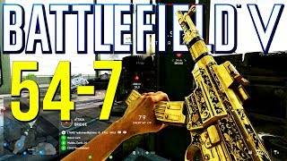 Battlefield 5: 54-7 Gold STG Beasting! (PS4 Pro Multiplayer Gameplay)