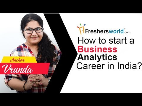 How to start a Business Analytics Career in India ? - Skills required ...